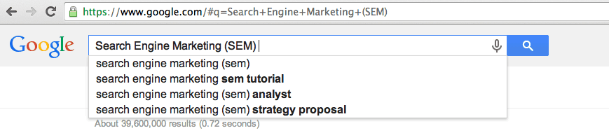 Search Engine Marketing (SEM) Services
